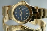 750 Золото Rolex мастер яхты леди роскошные часы Леди 169628